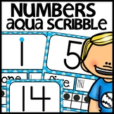 Number Posters MIX AND MATCH (AQUA Scribble)