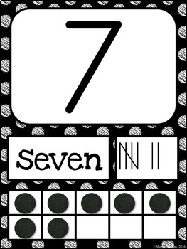Number Posters MIX AND MATCH (Black Scribble)