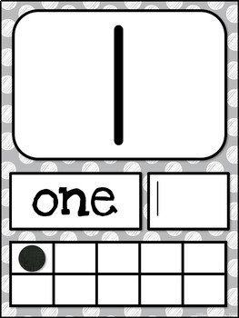 Number Posters MIX AND MATCH (GRAY Polka Dot Scribble)