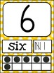 Number Posters MIX AND MATCH (MUSTARD Polka Dot Scribble)