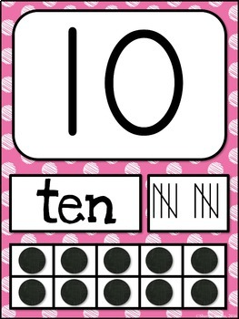 Number Posters MIX AND MATCH (PINK Scribble)