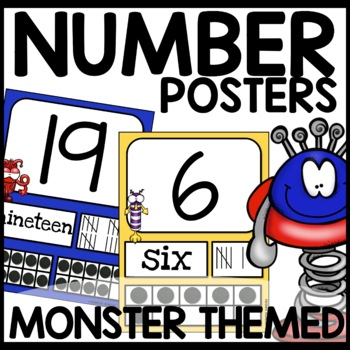 Number Posters | MONSTER THEMED