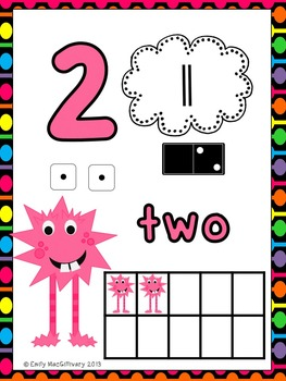 Number Posters: Monster Theme (Numbers 0-20)
