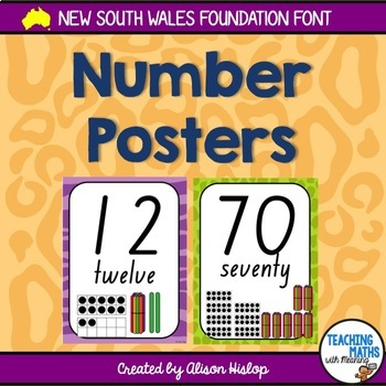 Nsw foundation font teaching resources teachers pay teachers number posters nsw foundation font fandeluxe Image collections