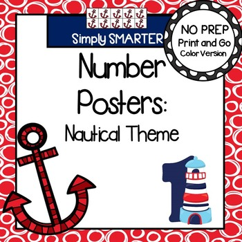 Number Posters:  Nautical Theme