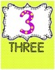 Number Posters - Number and Word