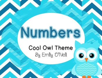 Number Posters (Owl Theme)