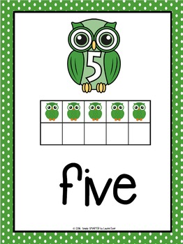 Number Posters:  Owl Theme