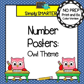 Number Posters:  Owl Themed