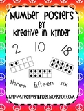 Number Posters: Peace Signs