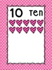 Number Posters: Pink and Black Polk-a-dot and Heart Themed