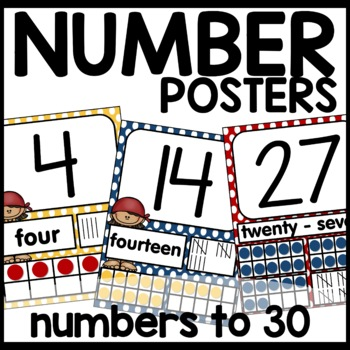 Pirate Themed Number Posters