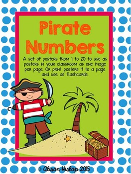 Number Posters - Pirates