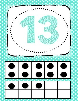 Number Posters (Polka Dot 0-20)