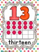 Number Posters - Polka Dot Theme with Sparkles