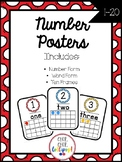 Number Posters - Primary Colors