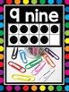 Number Posters 0-20 {Black & Rainbow Dots Theme}