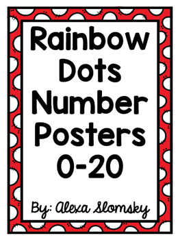 Number Posters Rainbow Dots Full Set