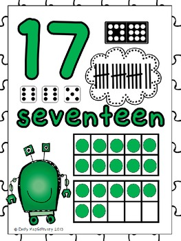 Number Posters: Robot Theme (Numbers 0-20)