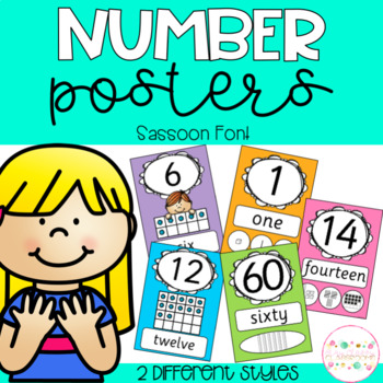 Number Posters - Sassoon Font