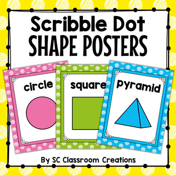 Polka Dot Shape Posters (Scribble Dot)
