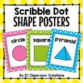 Scribble Polka Dot Shape Posters- Classroom Decor