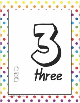 Number Posters Set - 0 to 10 - multiple representations - MAB or Base 10 blocks