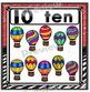 Number Posters Set ~ 1 – 20 {Crayon/Zebra Theme}
