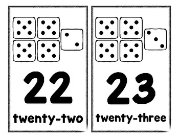 Number Posters Set 1 * Create Your Own Room * Preschool Daycare