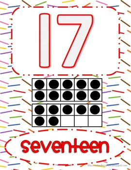 Number Posters Set 2 (11-20)