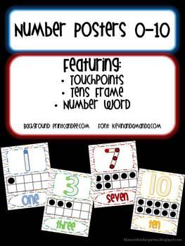 Number Posters Bundled Set (0-10 & 11-20)
