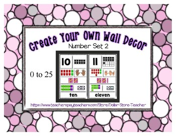 Number Posters Set 2 * Create Your Own Room * Preschool Daycare