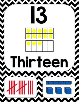 Number Posters Set 3 (to 20)
