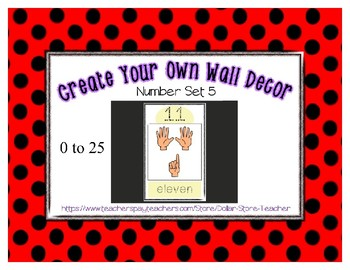 Number Posters Set 5 * Create Your Own Room * Preschool Daycare