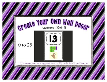 Number posters set 6 create your own room preschool - Create your own room ...