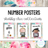 Number Posters - Shabby Chic Collection