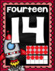 Number Posters Signs 0-20 Ten Frames Outer Space Theme