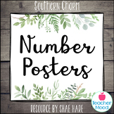 Number Posters {Southern Charm} Farmhouse Theme Decor