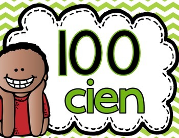 Number Posters Spanish 100 to 1,000
