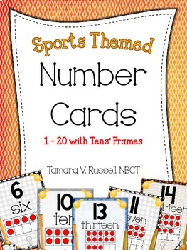 Number Posters {Sports Themed}