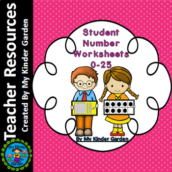 Number Math Posters Student Worksheets 0-25 base ten, ten frames, & tally marks