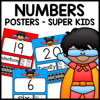 Number Posters (Superhero Themed)