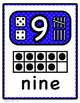 Number Posters : Ten Frame, Dice, and Tally Marks