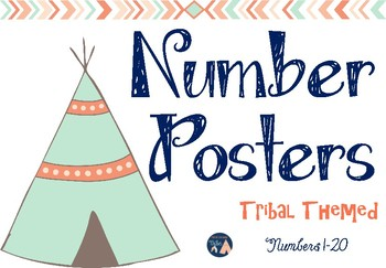 Number Posters: Tribal Themed