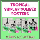 Number Posters (Tropical Shiplap)
