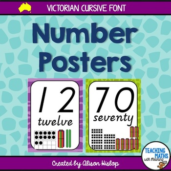 Number Posters - Victorian Cursive
