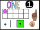 Number Posters with Tallies, Coins, Ten Frame Bright