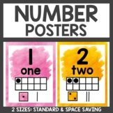 Number Posters Watercolor Classroom Decor