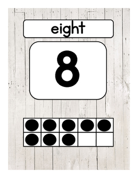 Number Posters - White Wood