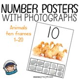 Classroom Decor - Number Posters With 10 Frames (1-20)